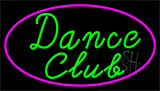 Dance Club With Pink Border Neon Sign
