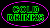 Double Stroke Cold Drinks Neon Sign