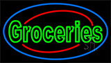 Double Stroke Groceries Neon Sign