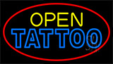 Double Stroke Tattoo Open LED Neon Sign