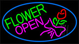 Flowers Open Logo Neon Sign