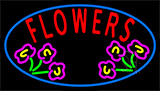 Flowers Open Neon Sign