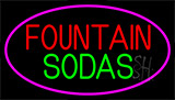 Fountain Sodas With Glass Neon Sign
