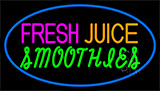 Fresh Juices Smoothies Neon Sign
