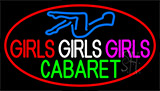 Girls Girls Girls The Cabaret Girl Logo Neon Sign