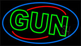 Green Gun Neon Sign