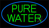Green Pure Water Neon Sign