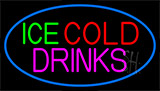 Green Red Ice Cold Drinks Neon Sign