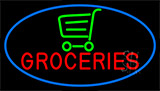 Groceries Art Neon Sign