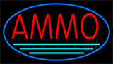 Red Ammo Turquoise Line Neon Sign