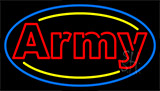 Red Double Stroke Army Neon Sign