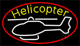 White Helicopter Logo LED Neon Sign