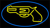 Yellow Gun LED Neon Sign