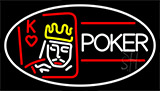 Poker With Border 2 Neon Sign