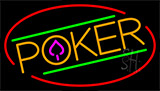 Poker With Border 6 Neon Sign