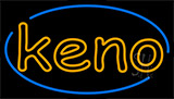 Keno With Border 5 Neon Sign