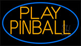 Green Play Pinball 2 Neon Sign