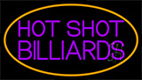 Hot Shot Billiards 4 Neon Sign