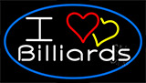 I Love Billiards 3 Neon Sign