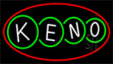 Keno With Border 2 Neon Sign