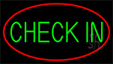 Green Check In LED Neon Sign