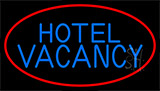 Hotel Vacancy With Blue Border LED Neon Sign