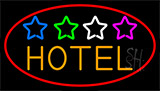 Hotel With Stars LED Neon Sign