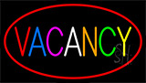Multi Colored Vacancy With Red Border LED Neon Sign