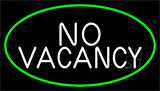 No Vacancy Green Border LED Neon Sign