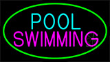 Pool Swimming With Green Border LED Neon Sign