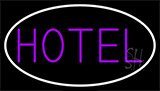 Purple Hotel With White Border LED Neon Sign