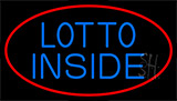 Red Lotto Inside Neon Sign