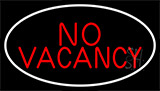 Red No Vacancy With White Border LED Neon Sign