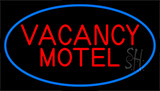 Red Vacancy Motel With Blue Border LED Neon Sign