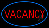 Red Vacancy With Blue Border LED Neon Sign