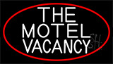 The Motel Vacancy With Red Border LED Neon Sign