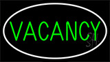 Vacancies With White Border LED Neon Sign