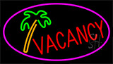 Vacancy Tree With Pink Border LED Neon Sign