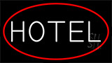 White Hotel LED Neon Sign