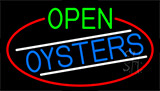 Open Oysters With Red Border LED Neon Sign