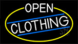 White Open Clothing With Yellow Border LED Neon Sign