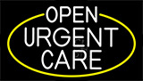 White Urgent Care With Yellow Border LED Neon Sign
