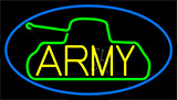 Yellow Army With Blue Border LED Neon Sign
