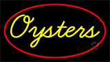 Yellow Oysters Red LED Neon Sign