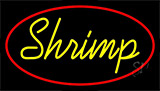 Shrimp Cursive 2 LED Neon Sign