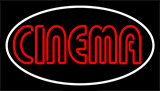 Red Cinema White Border Neon Sign