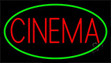 Red Cinema With Green Border Neon Sign