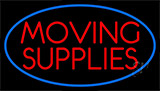 Red Moving Supplie Neon Sign