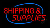 Red Shipping Supplies Neon Sign