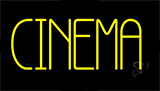 Yellow Cinema Block Neon Sign
